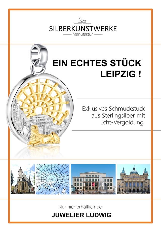 """Anhänger """"Stadt Leipzig"""" bicolor"""