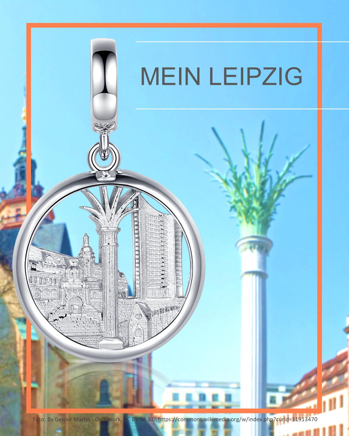 """Anhänger """"Stadt Leipzig"""" 925 Silber"""
