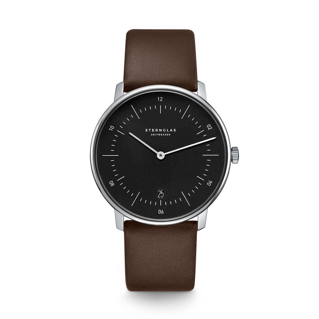 NAOS schwarz silber / Premium dunkelbraun